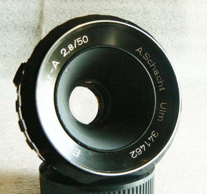 【悠悠山河】西德御三家 蕭特 A.Schacht Ulm 50mm F2.8 M42口 紅色景深錶尺 用料極佳 成像極優