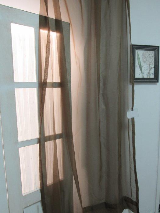 [W065]窗簾 窗紗 No.10素色透紗深咖啡色  特價出清  無接縫紗 簡約 北歐