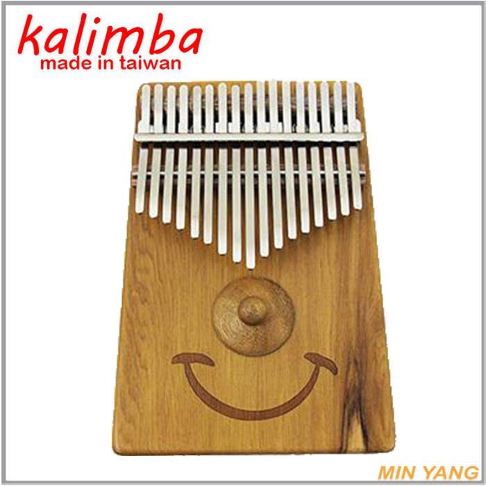 【民揚樂器】卡林巴琴 梢楠實木 微笑款 C調17鍵 台製 拇指琴 姆指琴