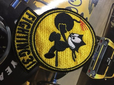 (I LOVE樂多)少見FELIX THE CAT菲力貓布章 二次大戰美國fighting 31戦闘攻撃飛行隊