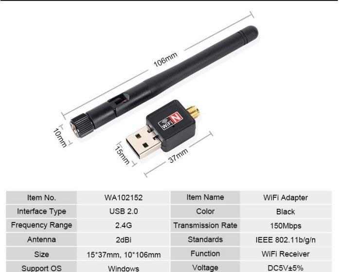 【保固一年 高穿透 】台灣瑞昱原廠晶片 無線網卡 wifi 接收器 網卡 usb 天線 150m網卡 無線 最強高增益