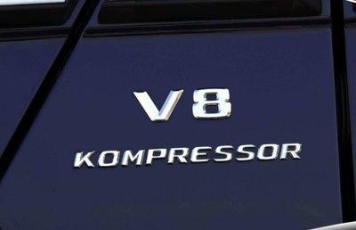 圓夢工廠 Benz 賓士 E W210 W211 V8 Kompressor 葉子板 車身字標 車標貼 鍍鉻銀