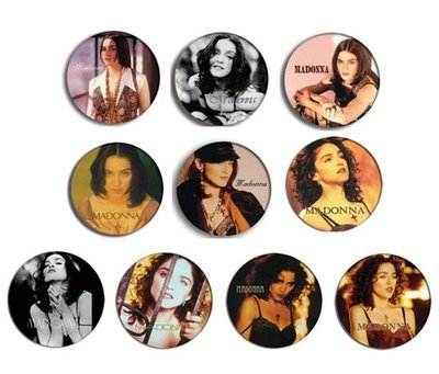 現貨 MADONNA Like A Prayer, Express Yourself pinback BADGE SET 1a 襟章(一套10個)