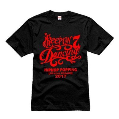 keep on dancing 街舞 KOD7 poppin locking house breakin t恤 短袖T恤
