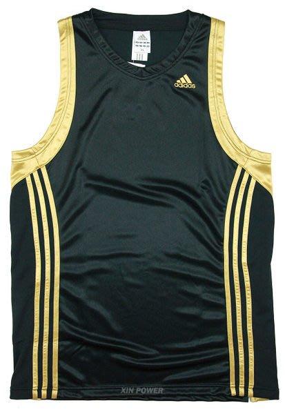 台灣製造!Adidas~吸濕排汗籃球背心(黑/金) (210319) -特價780元(含運)《新動力》