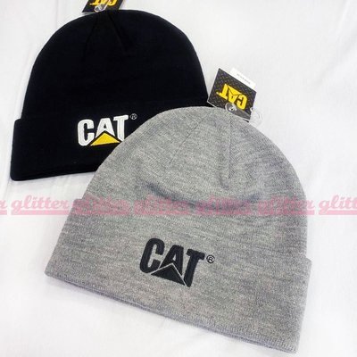 glitter。Caterpillar Cat Trademark Cuff 灰色 針織 毛線 反折 毛帽 工裝 卡特