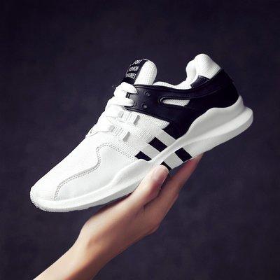 登月運動館~男鞋2020新款夏季透氣潮鞋正韓網面薄款休閒運動鞋小白內增高球鞋