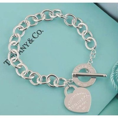 精品皮具 Tiffany&Co. 925純銀 Tiffany 蒂芙尼 項鍊 手鍊 手環飾品 禮物 T扣心牌 現貨