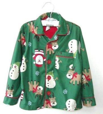 清倉價--carters 聖誕家居服外套 兒童 size 3T