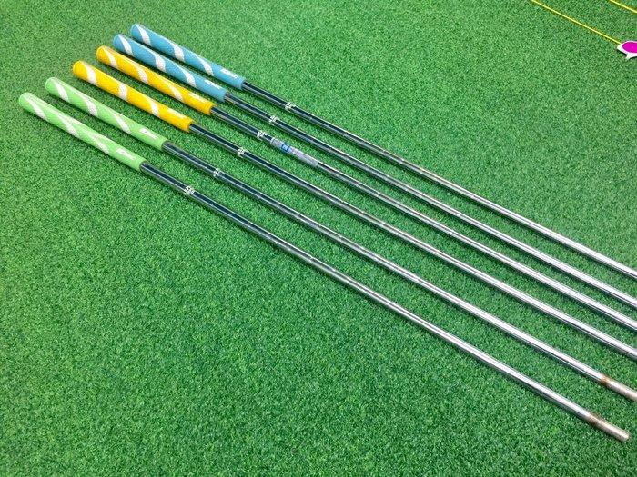 [小鷹小舖] [二手專賣區] 高爾夫 素材 桿身 NSPRO鐵身 無頭有握把 三色 共6支
