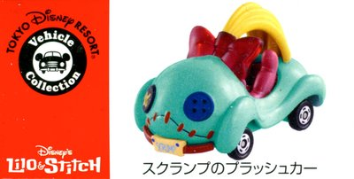 DISNEY東京迪士尼TOMICA多美車星際寶貝史迪奇的玩具布偶藍藍