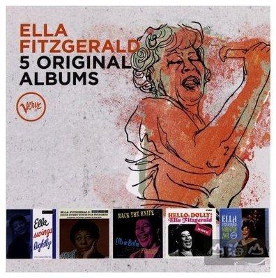 爵士超凡大師 傳奇5CD王盤套裝/艾拉費茲潔拉 ELLA FITZGERALD---5359628