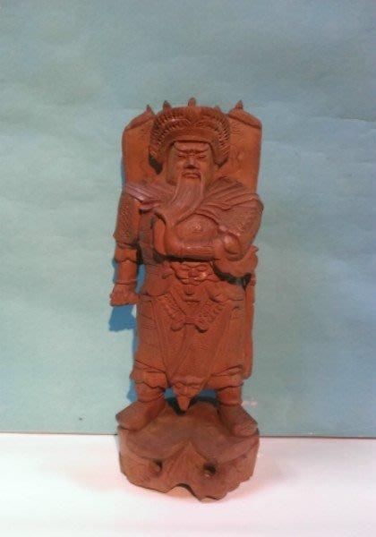 13-早期-原木雕-收藏品-黃楊木-(武甲戰神)-關公---