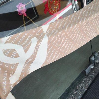 典精品名店 Chanel 真品 雙C Logo 長披肩 圍巾 尺寸 約160X40cm 現貨