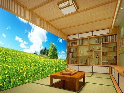 客製化壁貼 店面保障 編號F-703 藍天小花 壁紙 牆貼 牆紙 壁畫 背景牆 星瑞 shing ruei