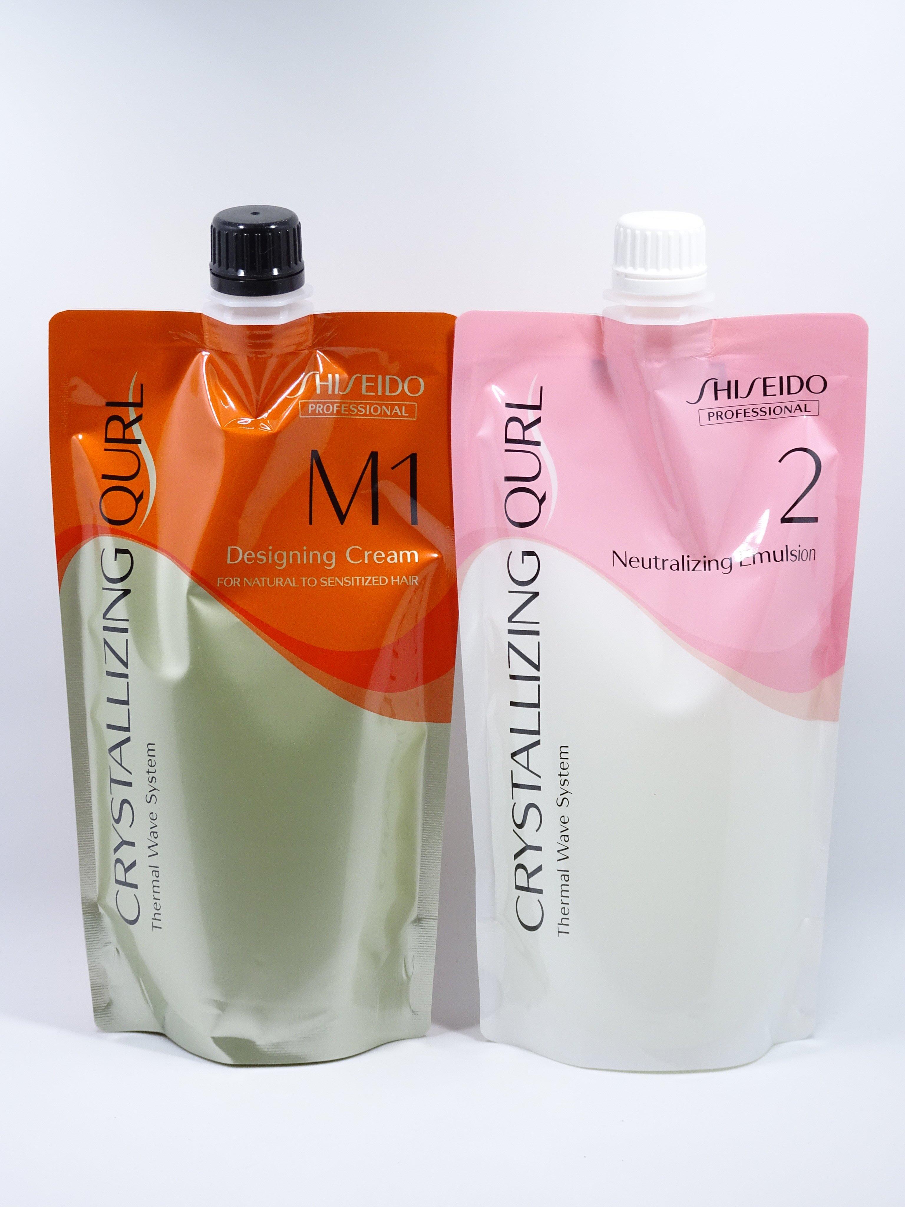 (華明)資生堂 2016新水質感Q 最新熱塑燙藥水(捲髮專用) M 受損髮1+2劑 頂級藥水公司貨(2劑乳狀)