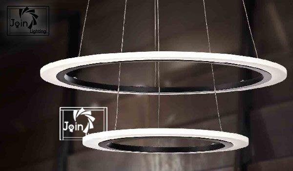 =橋式瘋設計= 圓環光圈LED 薄型 吊燈[JH-1751]
