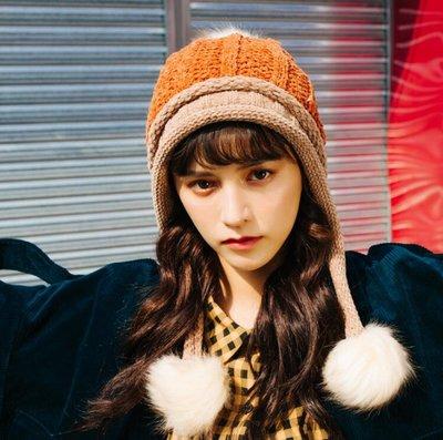 毛帽 顯白帽子 韓國雪尼爾毛線雷鋒帽 加絨東北帽 韓版加厚飛行帽潮—莎芭