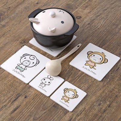 居家家 卡通隔熱墊餐桌墊防燙鍋墊 創意家用可愛碗墊子茶杯墊杯墊