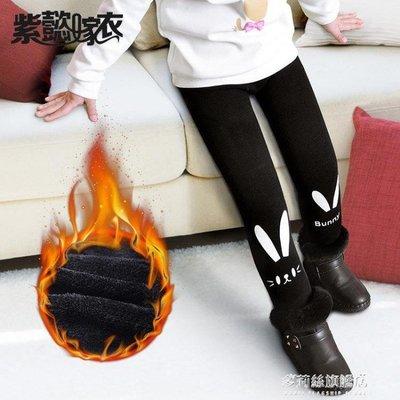 女童保暖褲女童秋冬裝新款打底褲兒童外穿保暖長褲寶寶加絨加厚童裝褲子