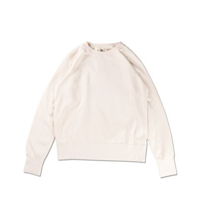 Freaky House-日本Riding High Raglan Sweat重度水洗圓領鋪棉衛衣米白色