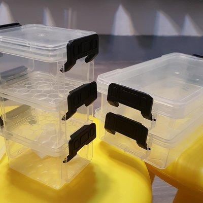 CITYLIFE 迷你收納盒五件組 附蓋 可組合在一起 全新轉賣 0.25L(2件)+0.15L(3件) 彰化縣