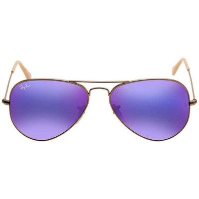 Ray Ban Aviator Flash Lenses Violet Mirror Men's  RB3025 167/1M 58男太陽眼鏡
