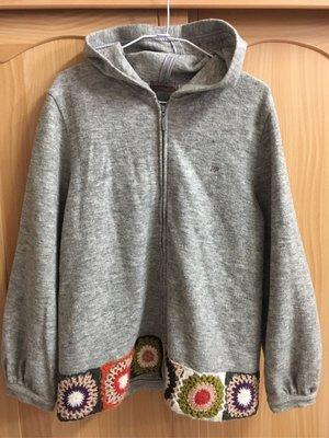 。☆二手☆。PIPPY正品連帽薄毛料外套(165)//成人可穿//原價五六千元