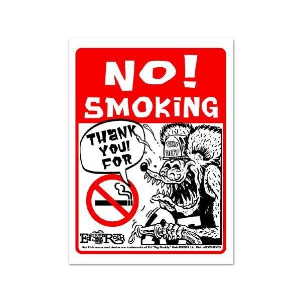 (I LOVE樂多)RAT FINK RF 禁止吸煙告示牌 居家.門口.玄關.營業場所.公共場所.裝置藝術