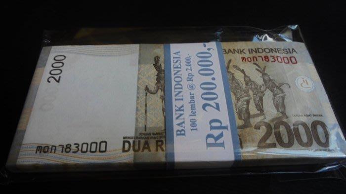 Ω≡ 外鈔 ≡Ω 2015年 / 印尼2000元【 連號100張 】99-全新