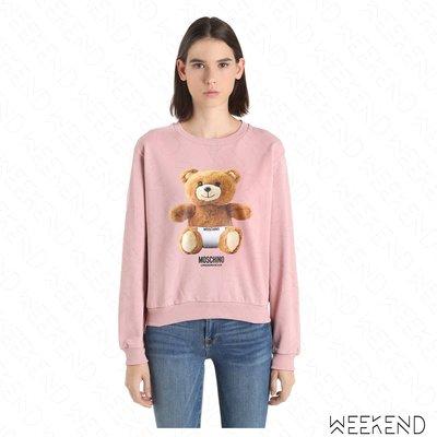 【WEEKEND】 MOSCHINO UNDERWEAR Underbear 泰迪熊 內褲 長袖 衛衣 粉色