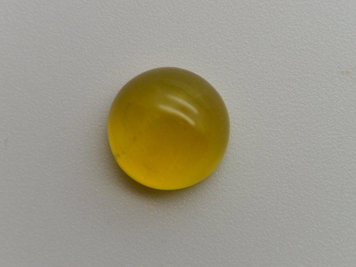 《葡萄石專區》《裸石》天然黃金色圓型 葡萄石(prehnite)裸石 蛋面 戒面 4.375CT