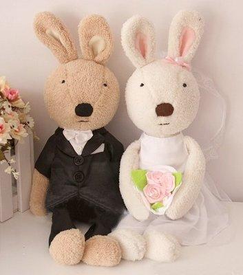 娃娃屋樂園~Le Sucre法國兔砂糖兔(結婚唯一款)30cm每對600元另有45cm60cm90cm