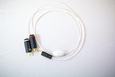 【富豪音響】荷蘭原裝Crystal Cable Next PEF13 3.5mm to RCA (0.65M)