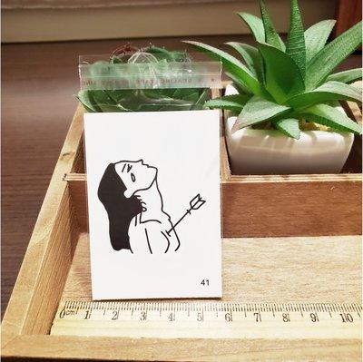 【萌古屋】百態人生41單圖 - 男女防水紋身貼紙刺青貼紙 K43