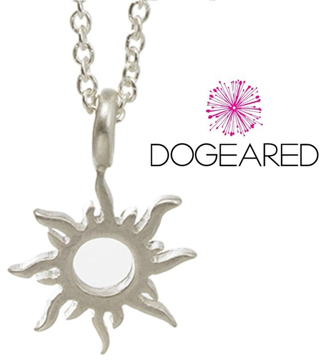 Dogeared 台北ShopSmart直營店 銀色太陽項鍊 Radiant Sun 正面能量