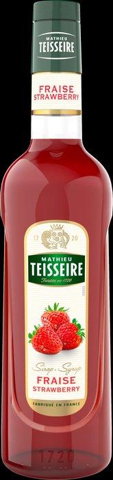 Teisseire 糖漿果露-草莓風味 Strawberry Syrup 法國天然糖漿 700ml-【良鎂咖啡精品館】