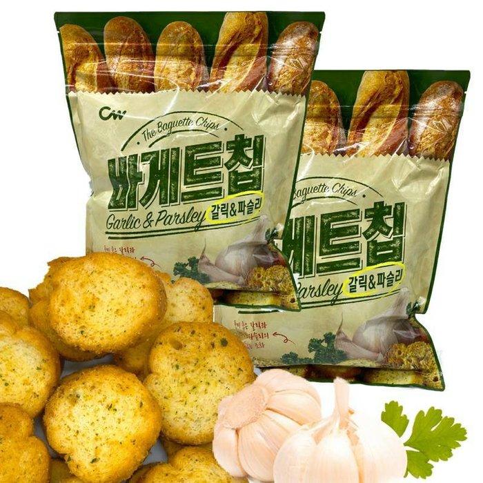 韓國 CW大蒜麵包餅乾 大蒜麵包 100公克裝嘗鮮包 現貨提供中