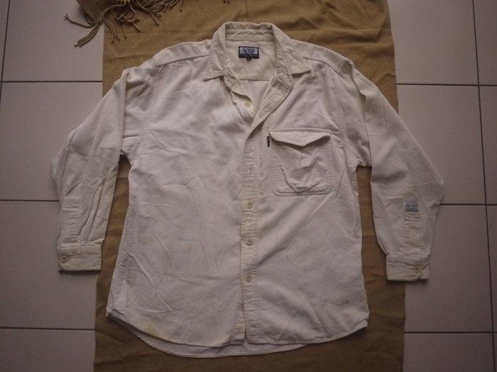 【二手精品好衣】Edwin休閒襯衫 米白/乳白 L號 罕穿 衣櫃爆滿清倉特賣價