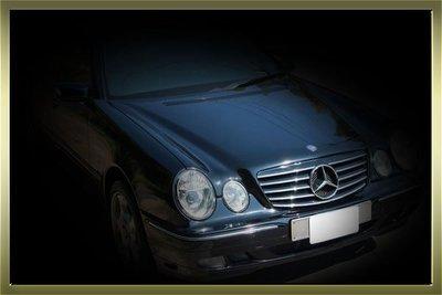 BENZ 賓士 W210 E系列 CL AMG 五線 電鍍亮黑 大星水箱罩  00-02 MZ極速零