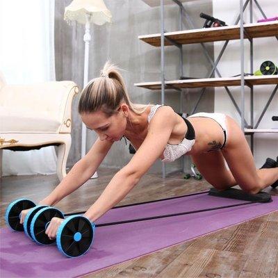 健腹輪 自動回彈卷腹肌健身器材家用減肚...