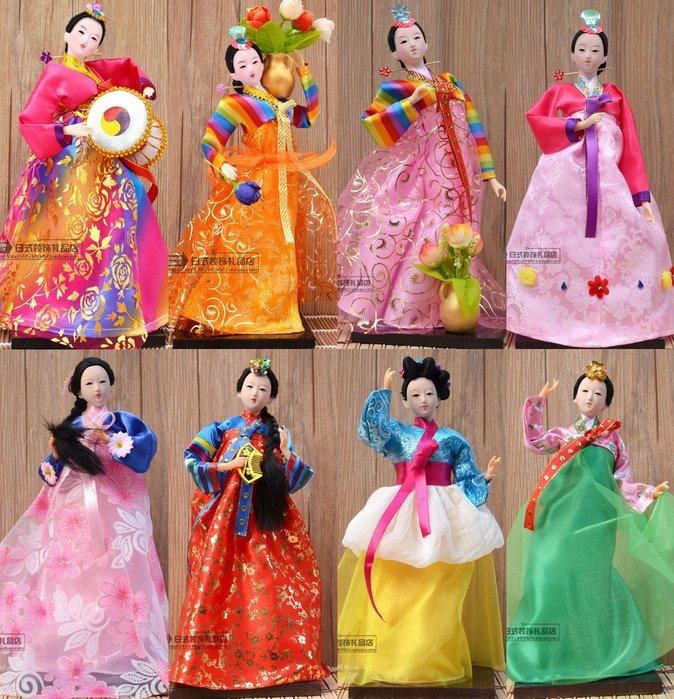 福福百貨~福福小店~韓國人偶工藝擺件人形娃娃料理店裝飾家居絹人禮品特色民俗娃娃~