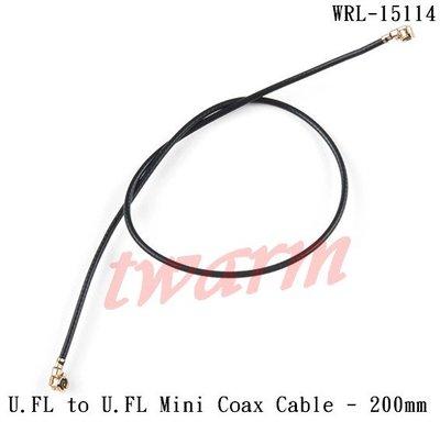 《德源科技》r)SparkFun原廠 U.FL to U.FL Mini Coax Cable 迷你同軸電纜-200mm