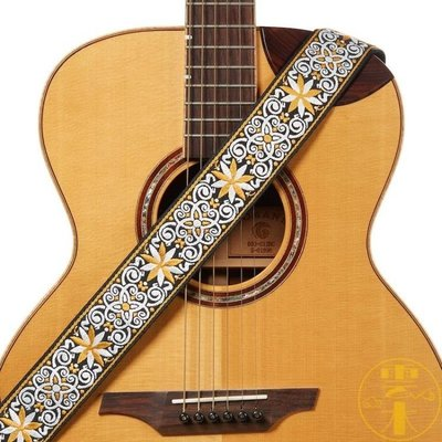 刺繡民謠古典吉他帶木吉他電吉他背帶貝斯 『可開發票 飛揚時尚』