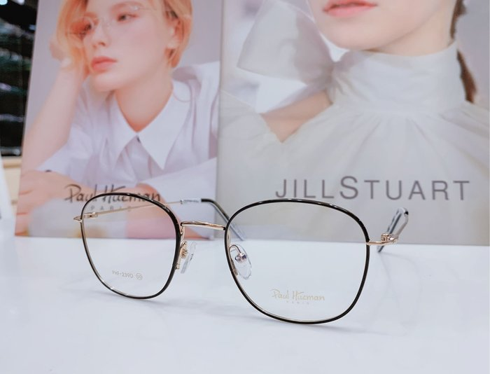 Paul Hueman 韓國熱銷品牌 黑-金雙色金屬復古方框眼鏡 英倫街頭百搭時尚 PHF239D 239 俐落有型