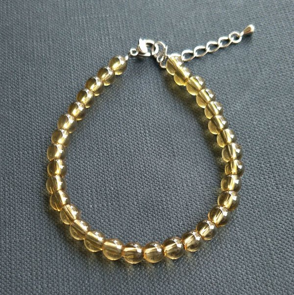 ☆采鑫天然寶石☆ ~黃金糖~頂級天然無處理黃水晶手鍊~巧緻款~5.2mm
