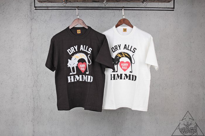 【HYDRA】Human Made Ccat T-Shirt 貓 天竺棉 短T【HM18TE001】