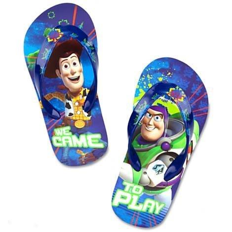 【美國大街】正品.美國迪士尼胡迪巴斯玩具總動員夾腳拖玩具總動員拖鞋胡迪夾腳拖巴斯夾腳拖  9/10 號  -17.5cm