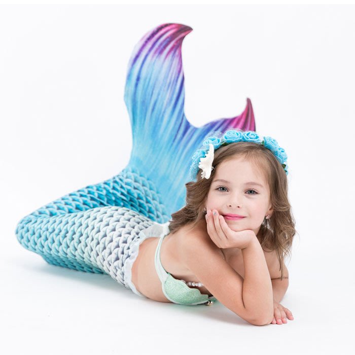 5Cgo【鴿樓】含稅會員有優惠 555908329823 新款美人魚尾巴泳衣女孩款旅遊度假泡溫泉服裝公主寶貝女童人魚泳衣