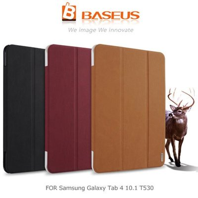 *PHONE寶*-BASEUS 倍思 Samsung Galaxy Tab 4 10.1 T530 雅格三折磨砂皮紋皮套 智慧休眠 站立側翻